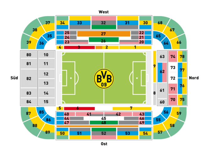 signal iduna park dortmund fu ballstadion in dortmund. Black Bedroom Furniture Sets. Home Design Ideas