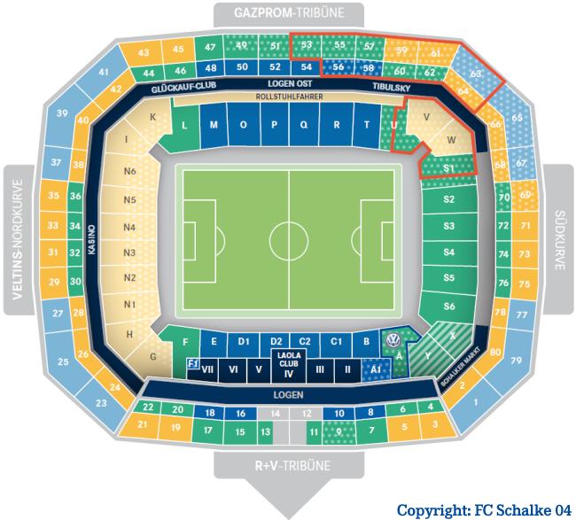 Veltins Arena Stadionplan